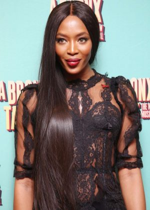 Naomi Campbell - Opening night of A Bronx Tale at the Longacre Theatre in NY