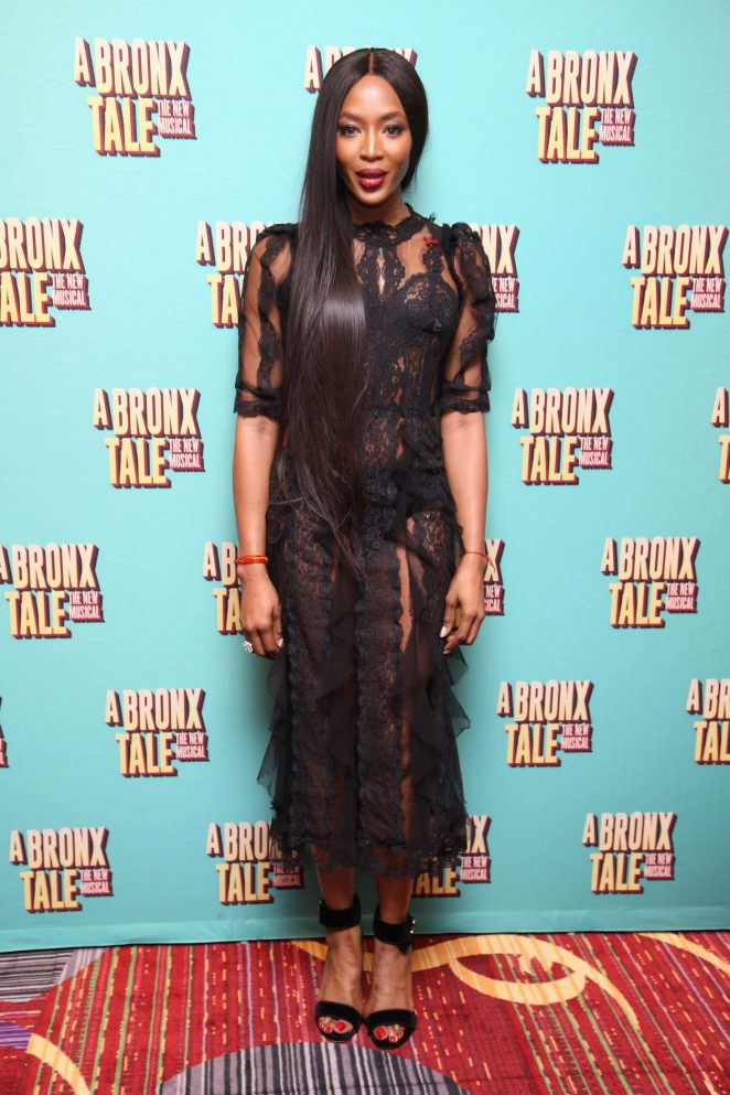 Naomi Campbell: Opening night of A Bronx Tale -05