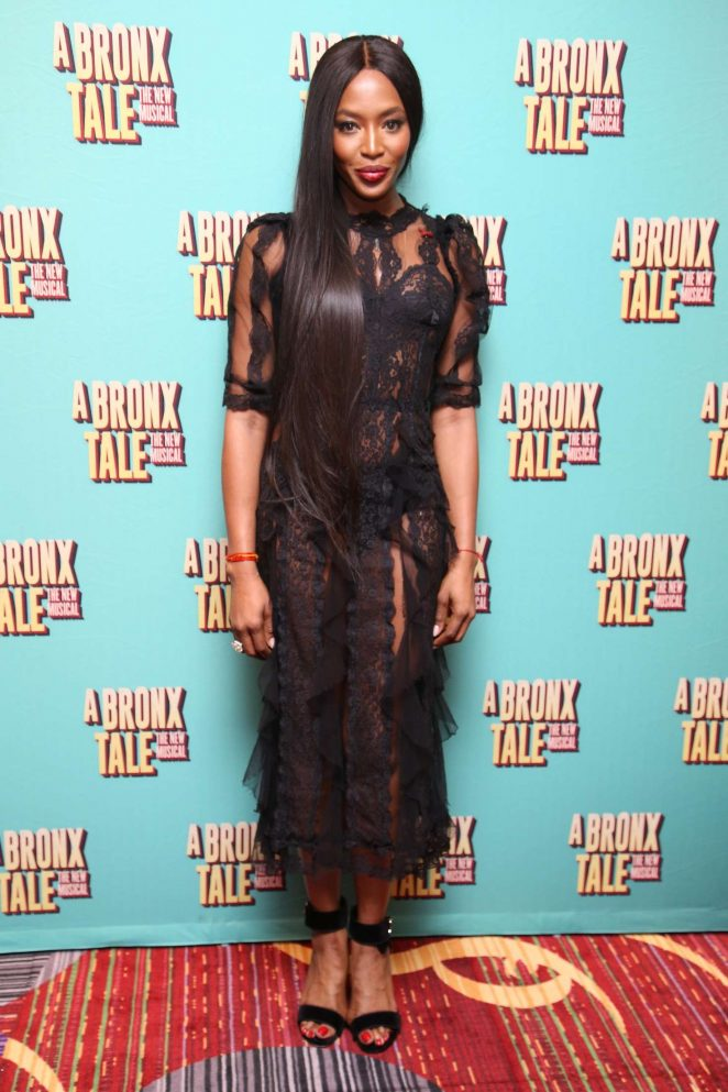 Naomi Campbell: Opening night of A Bronx Tale -06
