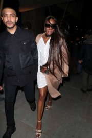 Naomi Campbell seen leaving LOVE Magazine Party in London