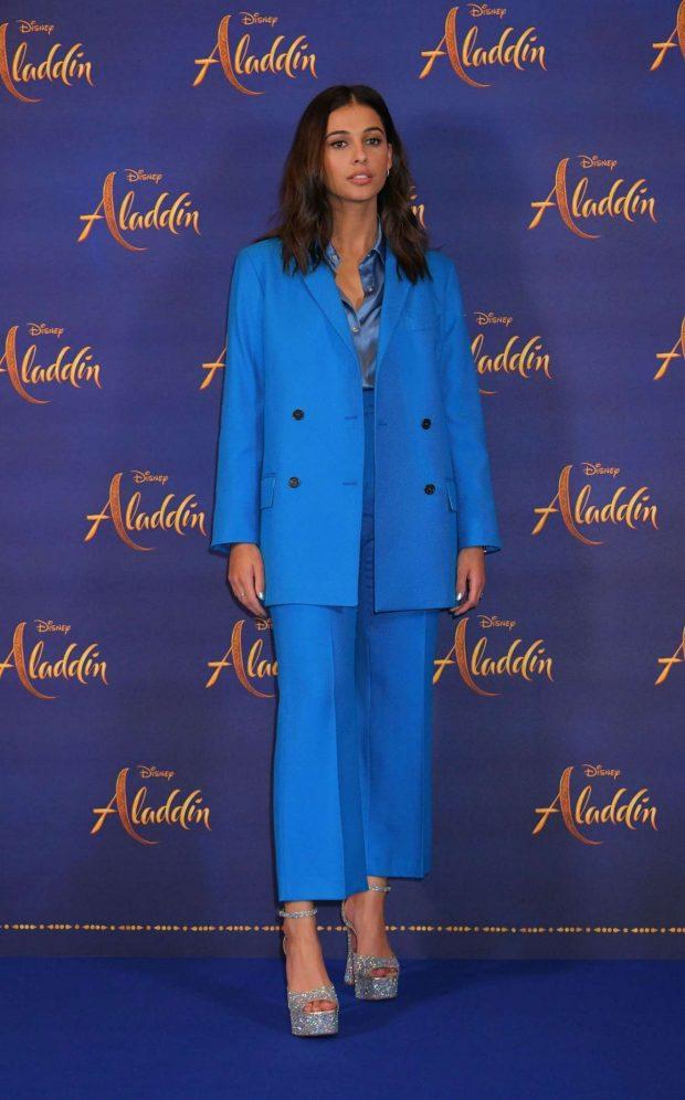 Naomi Scott: Aladdin Press Conference in London-07