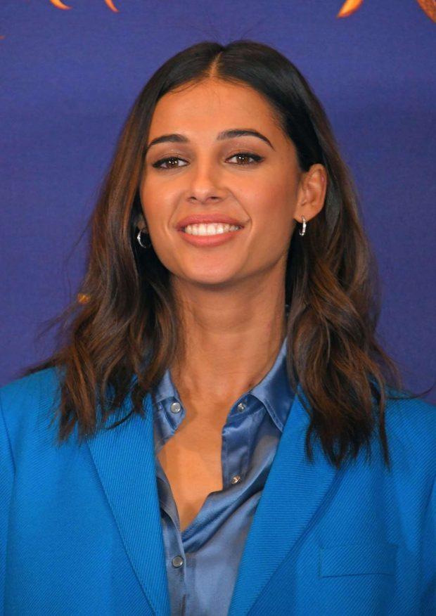 Naomi Scott - Aladdin Press Conference in London