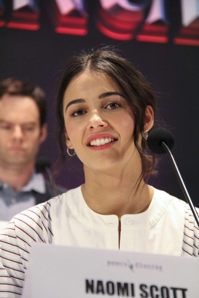 Naomi Scott - 'Power Rangers' Press Conference in Los Angeles
