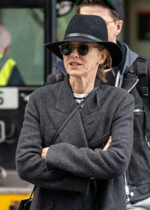Naomi Watts - Arrives at Heathrow Airport in London
