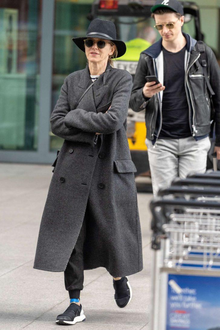 Naomi Watts: Arrives at Heathrow Airport -04