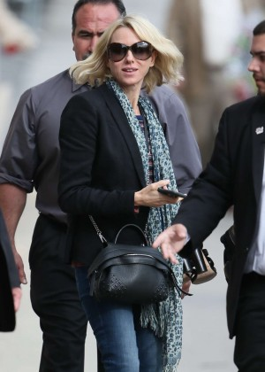 Naomi Watts - Arriving at 'Jimmy Kimmel Live' in Hollywood