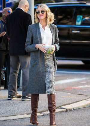 Naomi Watts - Filming 'Gypsy' in New York City