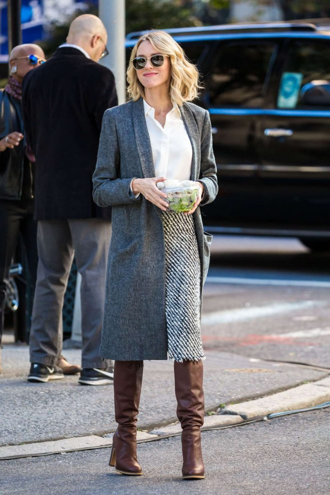 Naomi Watts – Filming 'Gypsy' in New York City