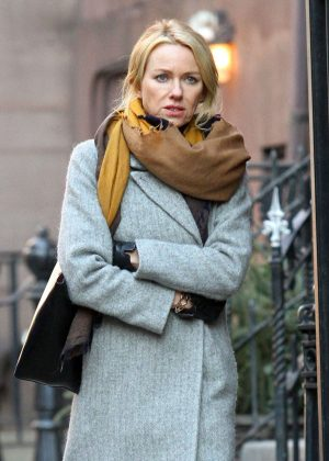 Naomi Watts - Filming the Netflix series 'Gypsy' in New York