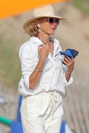 Naomi Watts - Hits the beach in the Hamptons