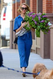 Naomi Watts in Denim Jumpsuit - Out in NYC