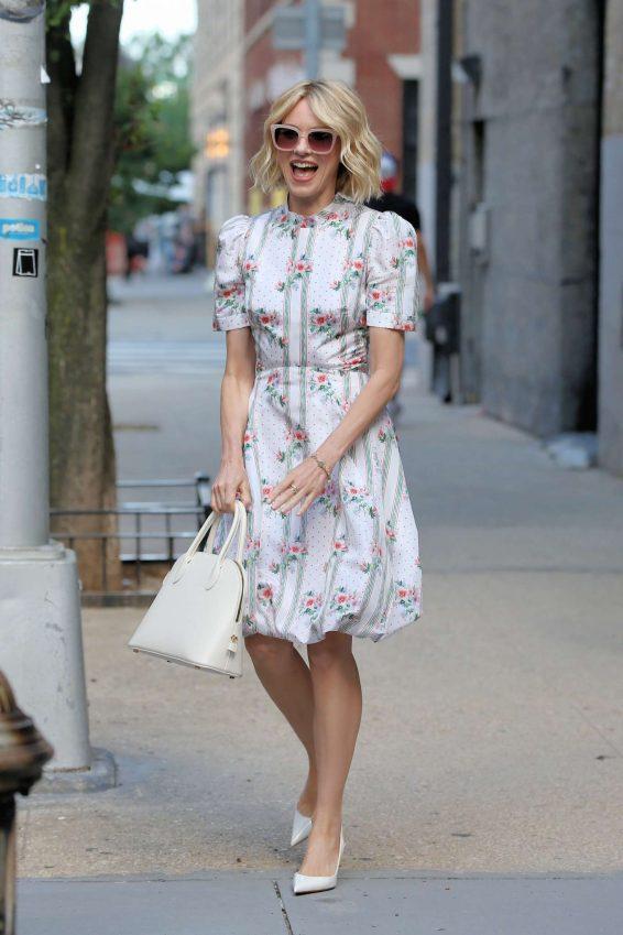 Naomi Watts 2019 : Naomi Watts in Floral Summer Dress-14