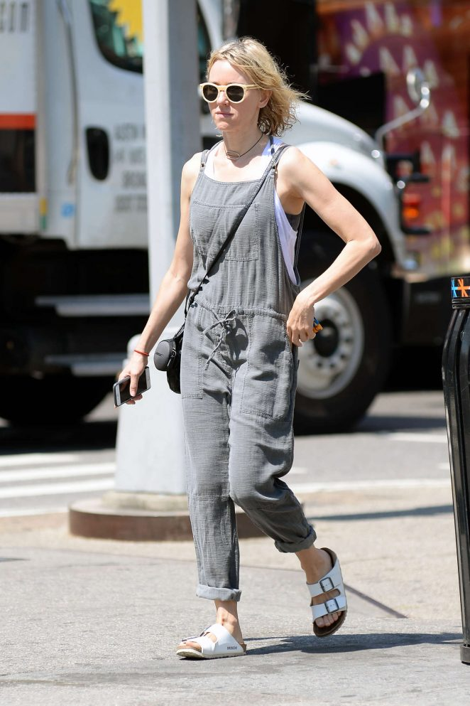 Naomi Watts in Jumpsuit out in New York
