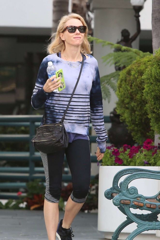 Naomi Watts in Leggings out in Brentwood