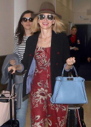 Naomi Watts in Long Dress - Arrives in Australia
