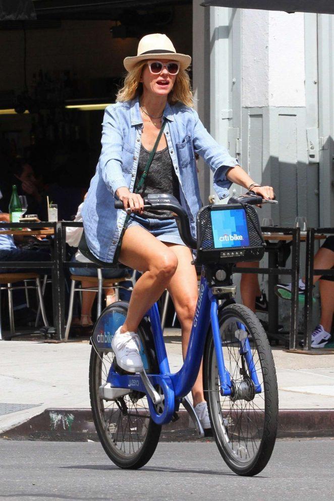 Naomi Watts in Shorts - Bike Ride in New York City