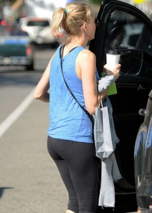Naomi Watts in Tight Leggings Out in Brentwood
