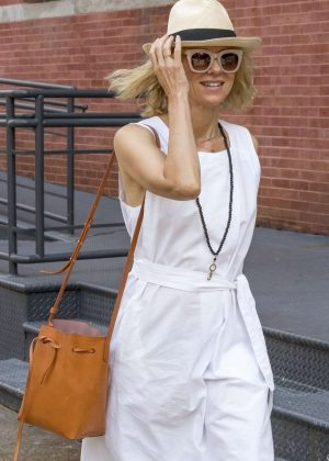 Naomi Watts in White Dress - Out in Tribeca