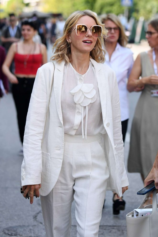 Naomi Watts in White - Out in Venice