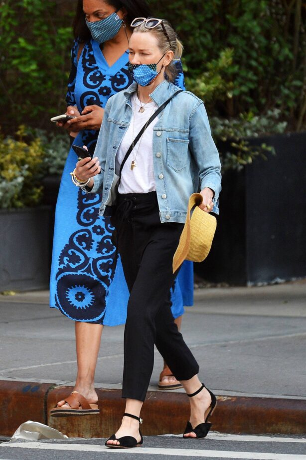 Naomi Watts - Is pictured out with friends in New York