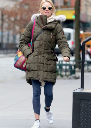 Naomi Watts - Leaving a gym in New York City