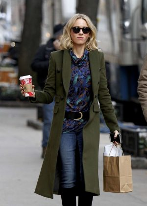 Naomi Watts on 'Gypsy' set in New York