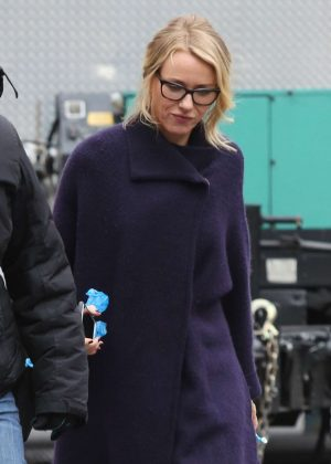 Naomi Watts on the set of 'Gypsy' in the West Village