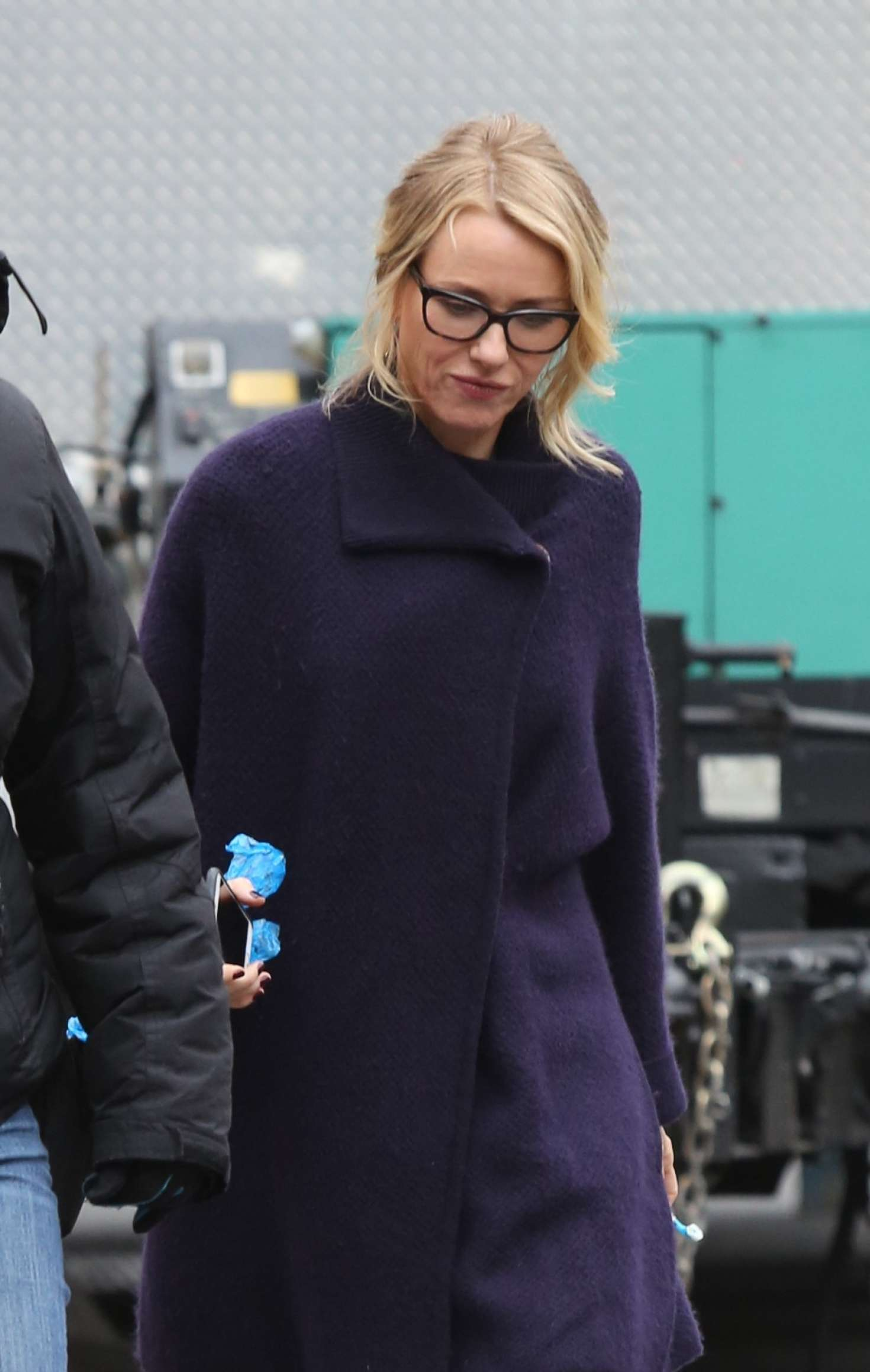 Naomi Watts on the set...