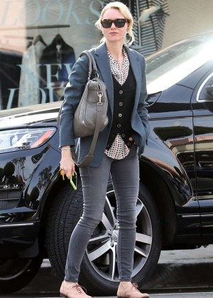 Naomi Watts in Tight Jeans Out in Los Angeles