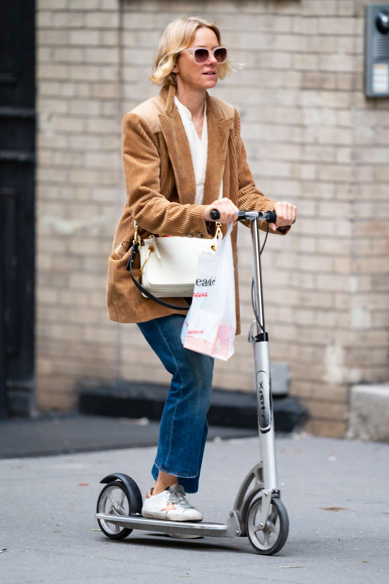 Naomi Watts 2020 : Naomi Watts – Out doing errands on a scooter in New York City-02