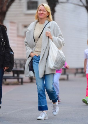 Naomi Watts out in Tribeca