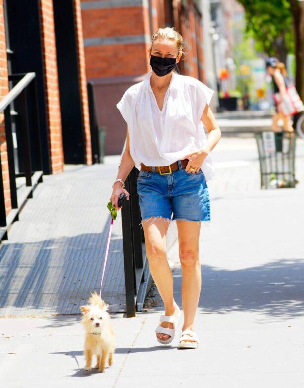 Naomi Watts - Seen walking her dog in New York