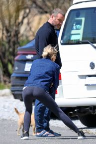 Naomi Watts - Spotted while stretching in The Hamptons