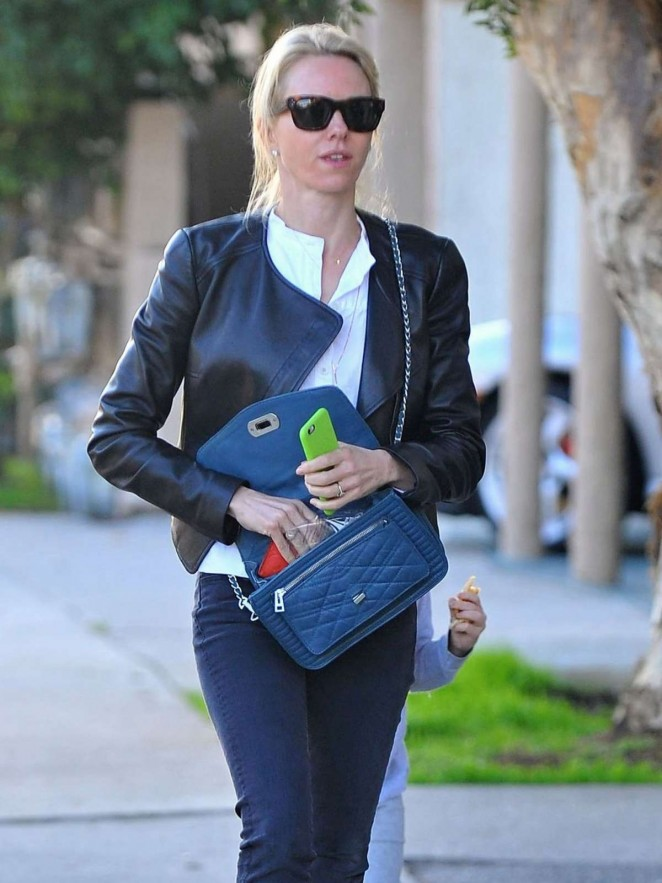 Naomi Watts in Jeans out in Brentwood