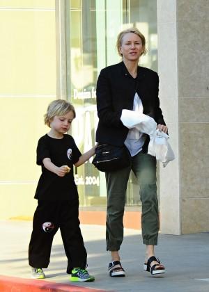 Naomi Watts - Taking her son to Karate class in LA