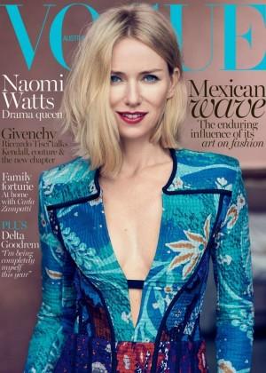 Naomi Watts - Vogue Australia Cover (October 2015)