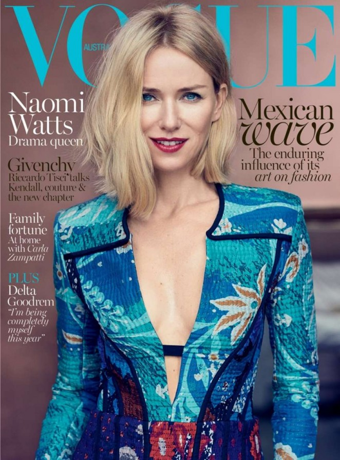 Naomi Watts - Vogue Australia Cover (October 2015)