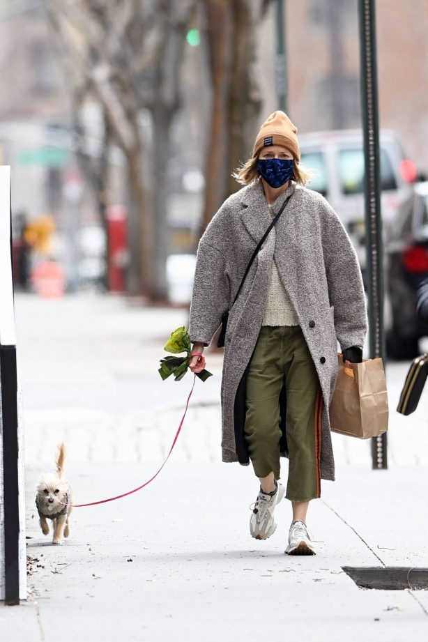 Naomi Watts - Walk her dog with in New York