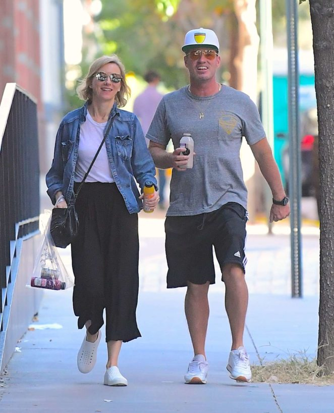 Naomi Watts with her brother Ben out in Tribeca