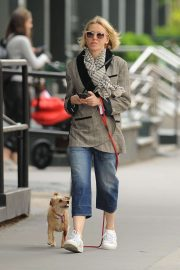 Naomi Watts with her dog out in New York City