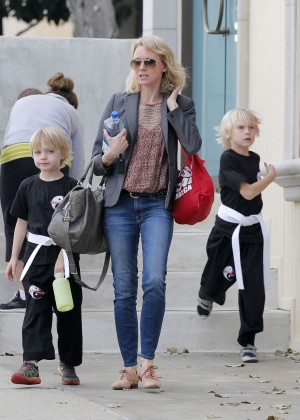 Naomi Watts With her Kids Out in LA