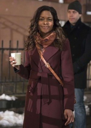 Naomie Harris - On set of 'Collateral Beauty' in New York