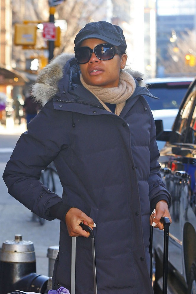 Naomie Harris out in New York City