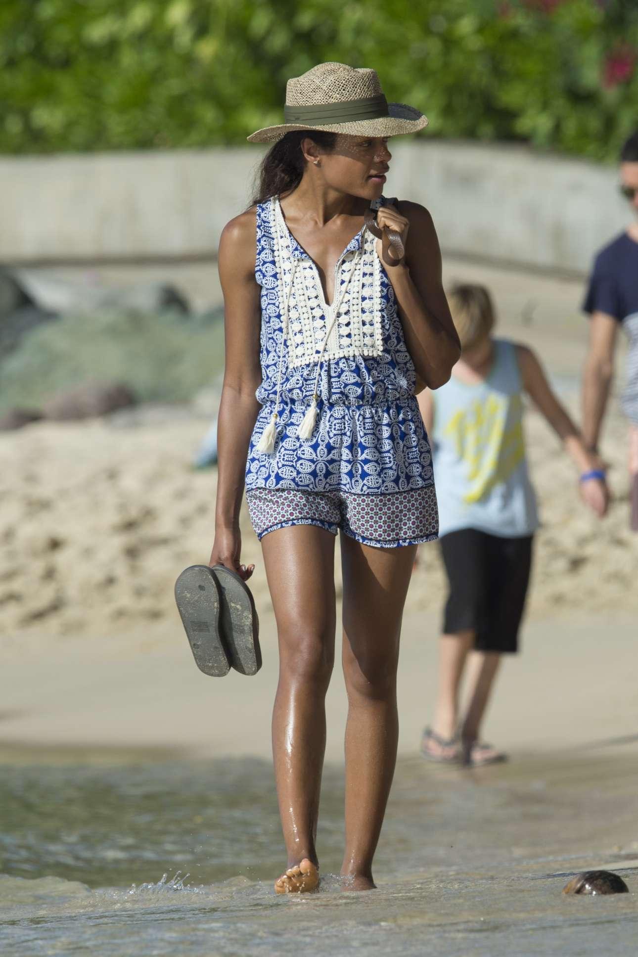 Naomie Harris - Seen on a Beach in Barbados