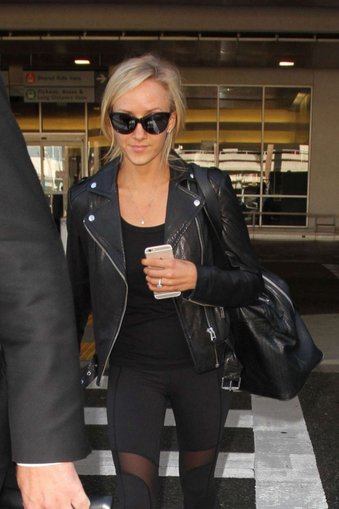 Nastia Liukin - Arriving to LAX Airport in LA