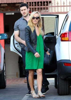 Nastia Liukin in Green Dress at DWTS -01