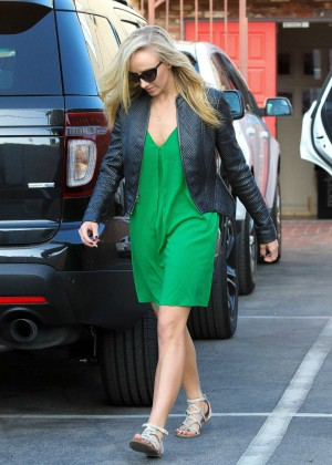 Nastia Liukin in Green Dress at DWTS -02