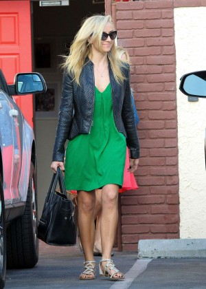 Nastia Liukin in Green Dress at DWTS -04