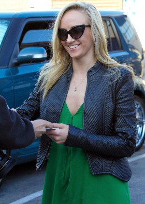 Nastia Liukin in Green Dress at DWTS -06