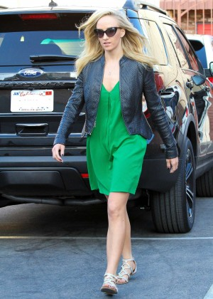 Nastia Liukin in Green Dress at DWTS -09